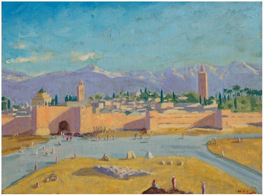 Tower of the Koutoubia Mosque by Sir Winston Churchill
