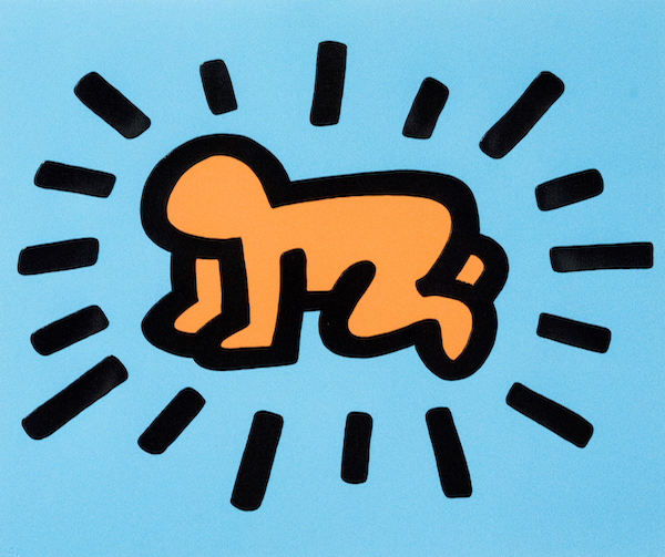 Radiant Child_C.jpg; Keith Haring, Icons #1, edition 157/250, 1990, Private Collection, Keith Haring artwork copyright ️ Keith Haring Foundation