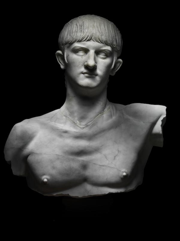 IDX 16: Marble bust of Nero. Italy, around AD 55. Photo by Francesco Piras. © MiC Museo Archeologico Nazionale di Cagliari.