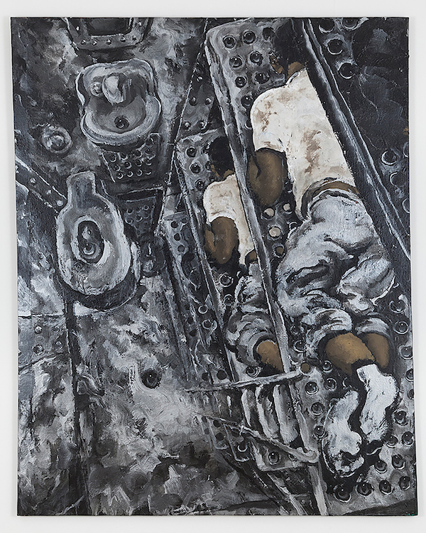 Martin Wong Prison Bunk Beds, c. 1988-1992 acrylic on canvas