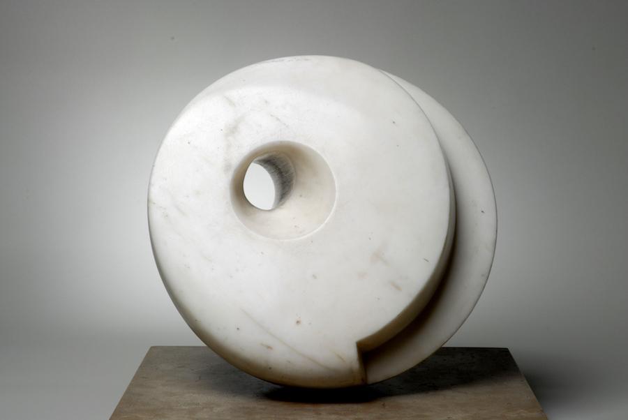 Barbara Hepworth, Pierced Hemisphere, 1937 White marble The Hepworth Wakefield (Wakefield Permanent Art Collection) © Bowness, Hepworth Estate Photo: Norman Taylor