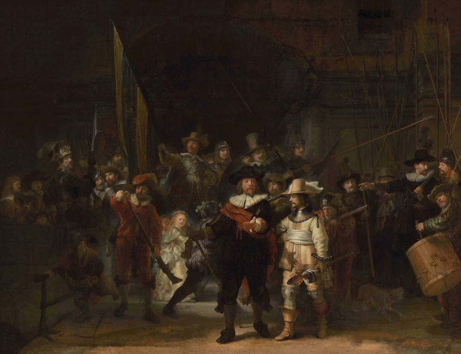 Rembrandt's The Night Watch has been recreated in its original form for the first time in 300 years. Visitors to Rijksmuseum in Amsterdam can now see the reconstructed composition uniting several sections cut from the painting over the centuries.