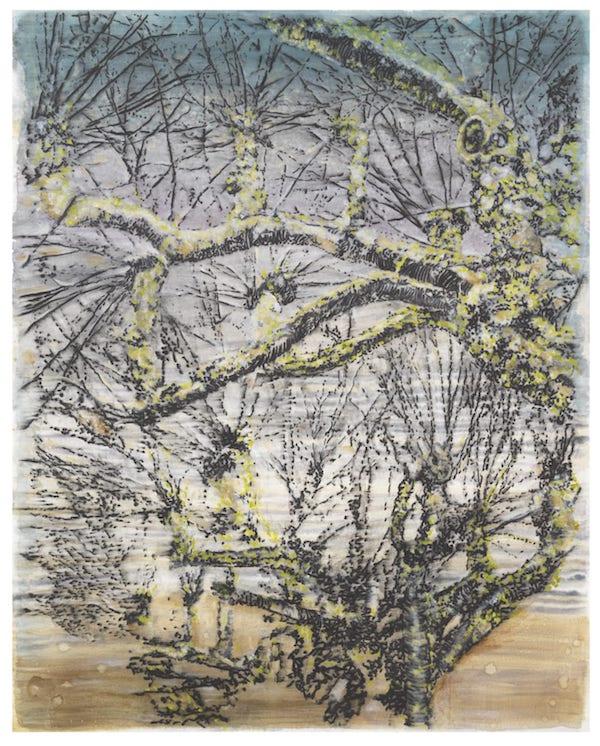 pollarded trees, 2021 - 152 x 122 cm