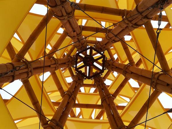 Joseph Williams's bamboo tent. detaIL