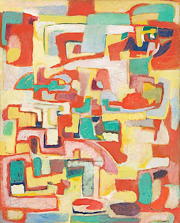 Marie Raymond  Printemps, 1953  Huile sur toile  101 x 82,5 cm  Musée d'Arts de Nantes  © Photo Cécile Clos / Musée d'Arts de Nantes,  © Marie Raymond, Adagp, Paris, 2021