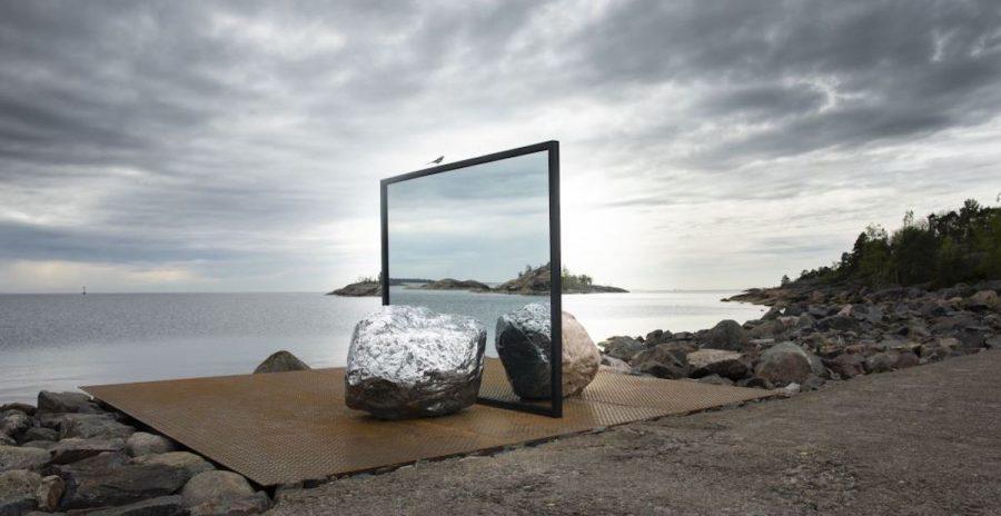 Alicja Kwade, Big Be-Hide (2019). © Maija Toivanen HAM Helsinki Biennial 2021.