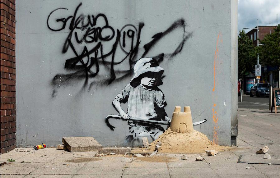Banksy Spraycation Where is it? London Road North, Lowestoft.