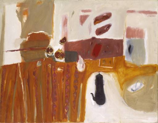 Despite the fact that she could never be described as an 'abstract artist', Blackadder gained much from her understanding of the non-figurative revolution which swept through European and American painting in the late 1950s and 1960s. In 1965 Blackadder was looking at new ways of approaching the still life, taking her cue from Redpath and the Edinburgh School but bringing to this her own unique vision which drew on sources as diverse as Mughal miniatures and colour-field abstraction.