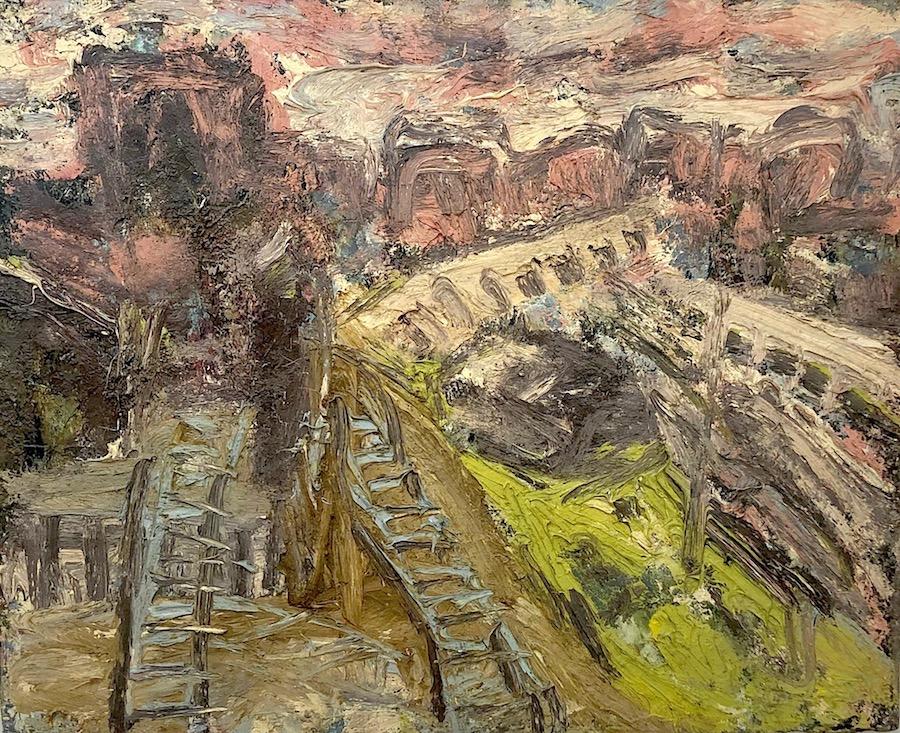 Leon Kossoff Railway Landscape near Kings Cross 1968