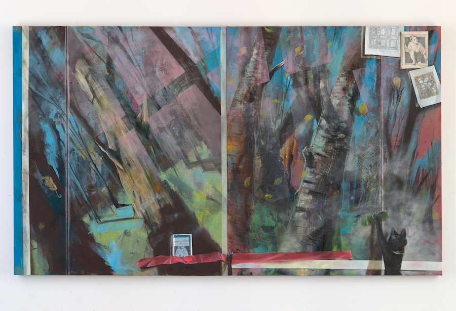 Alastair Gordon The Bewitching Hour by Alastair Gordon, oil, acrylic and pencil on canvas, 120x240cm