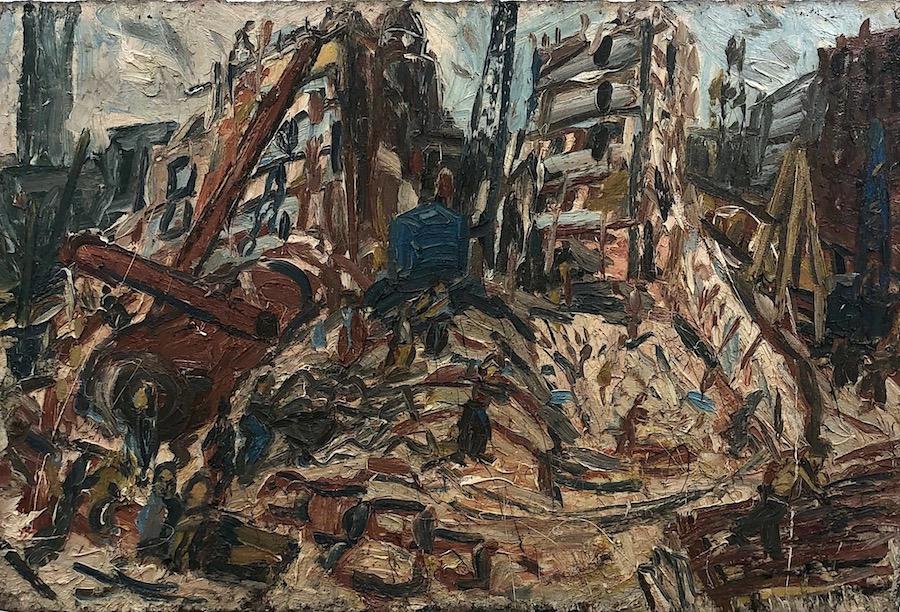Leon Kossoff Demolition of YMCA Building no# 1971