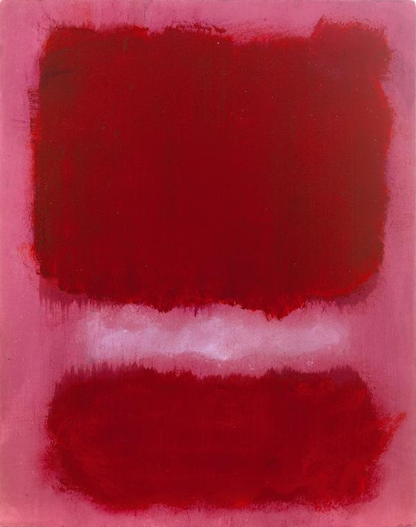 78276: Mark Rothko Untitled, 1968 acrylic on paper mounted on pane