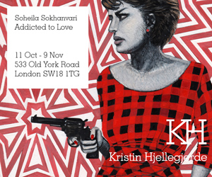 Soheila Sokhanvari - Addicted to Love: 11 Oct-9 October, Kristen Hjellegjerde