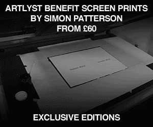 Artlyst Benefit screen prints by Simon Patterson from £60. Exclusive Editions