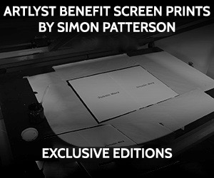 Artlyst Benefit screen prints by Simon Patterson. Exclusive Editions