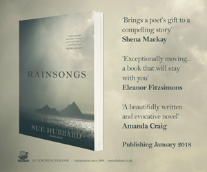 Rainsongs, the new book by Sue Hubbard, out now